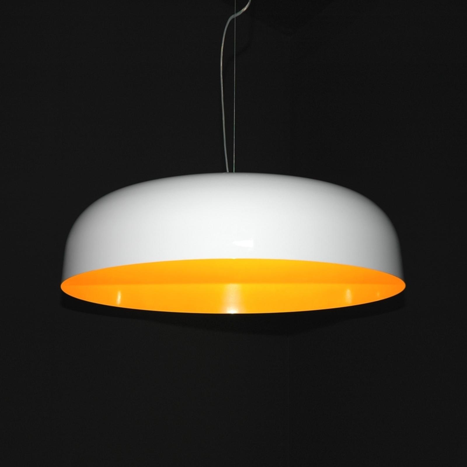 Szykowna lampa wisząca CANOPY, 90 cm biały/melon.