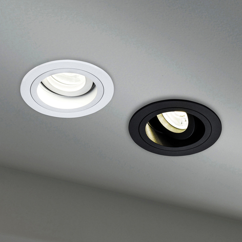 Lampe encastrable Akron, réglable, ronde