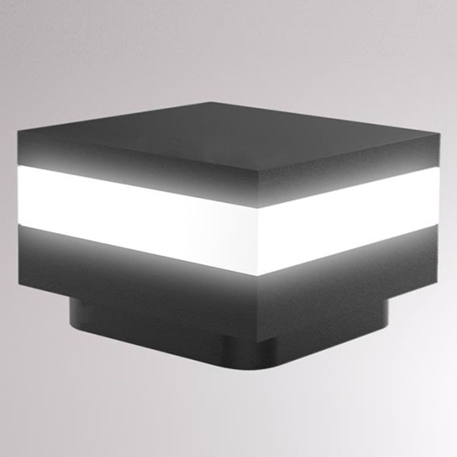 LOUM Mash LED-Sockelleuchte IP65 anthrazit