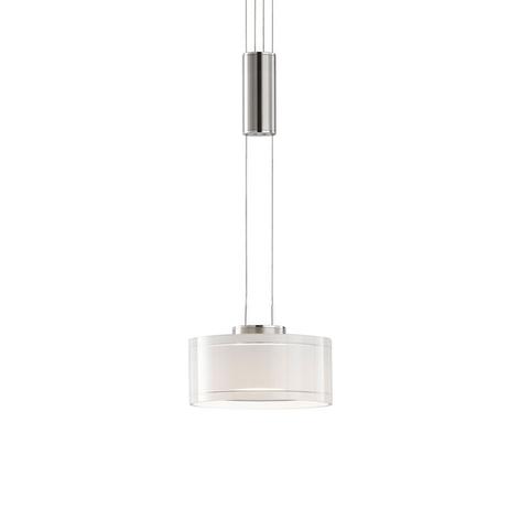 LED-Hängeleuchte Lavin, einflammig nickel/weiß