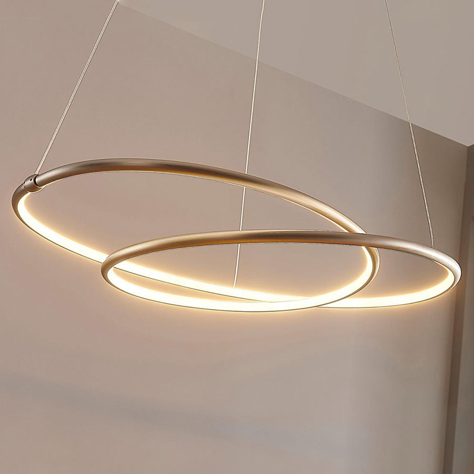 Mirasu - grasil LED-pendellampe, nikkel
