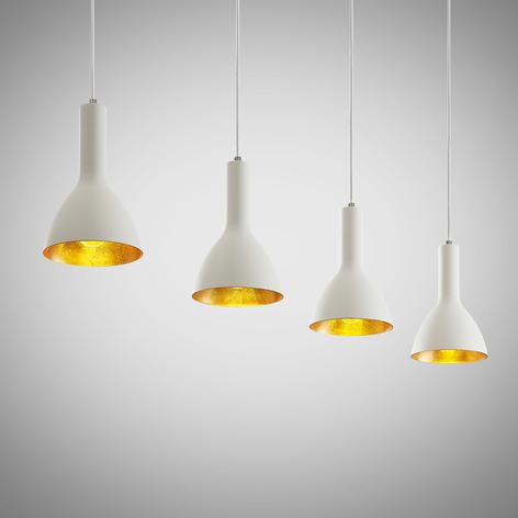Arcchio Cosmina colgante, 4 luces largo blanco