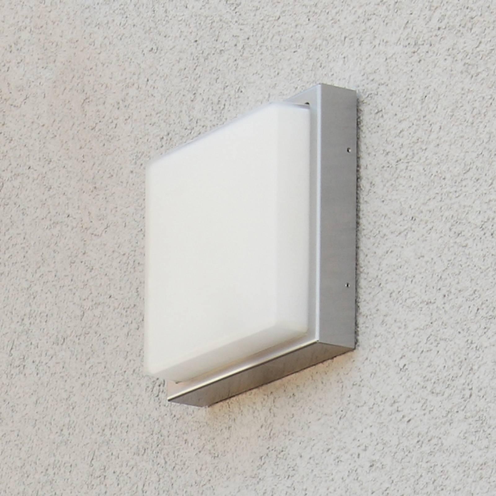 Zewnętrzna lampa ścienna ze stali  Quadro