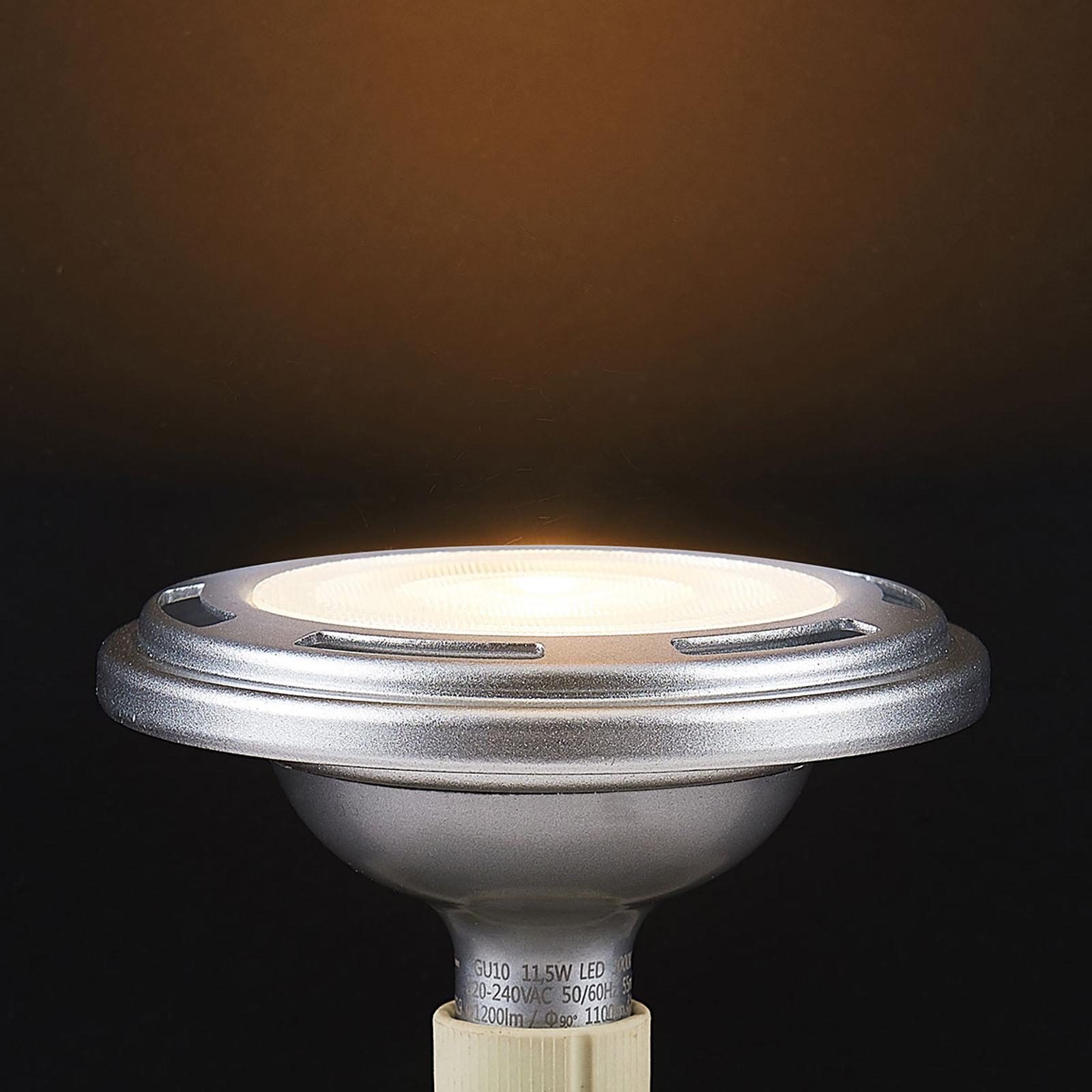 LED-reflektor GU10 ES111 11,5W, dimbar 3000K sølv