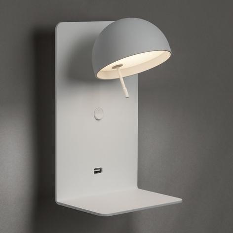 Bover Beddy A/02 LED-Wandlampe weiß mit USB-Port