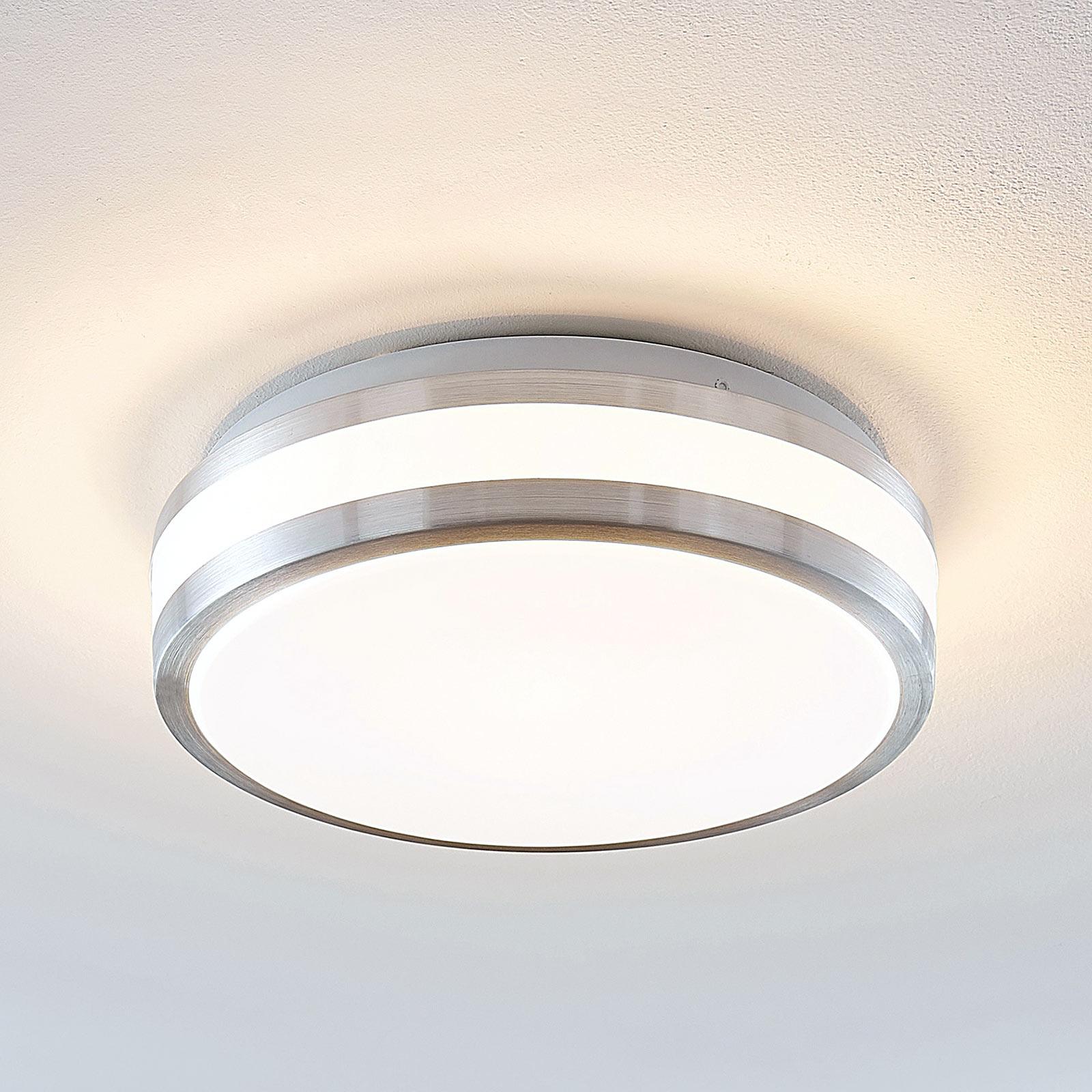 Lindby Nelia lampa sufitowa LED alu okrągła, 29 cm
