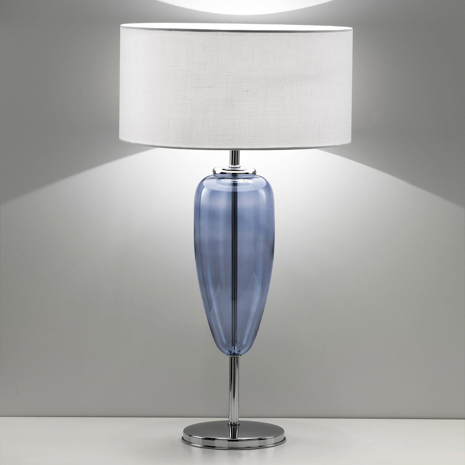Tafellamp Show Ogiva 82 cm blauw glaselement