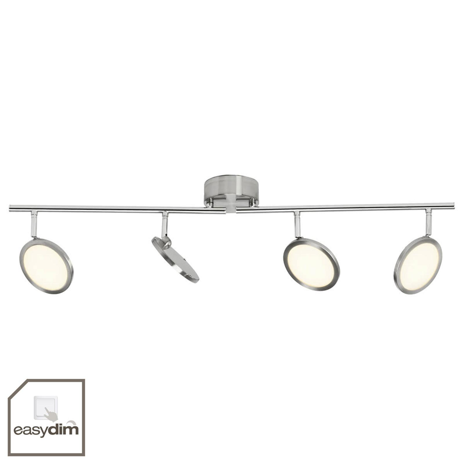 Dimbare LED plafondlamp Pluto, 4-lamps