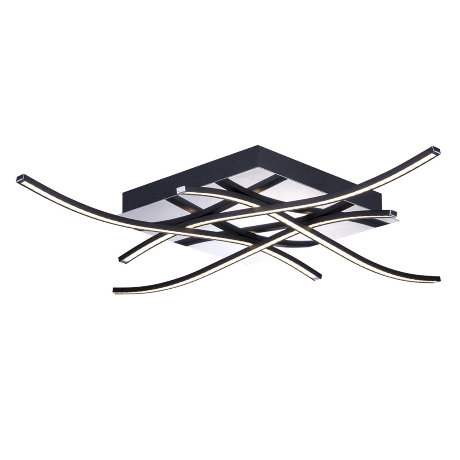 Spiner LED-taklampe, svart, 61x61cm