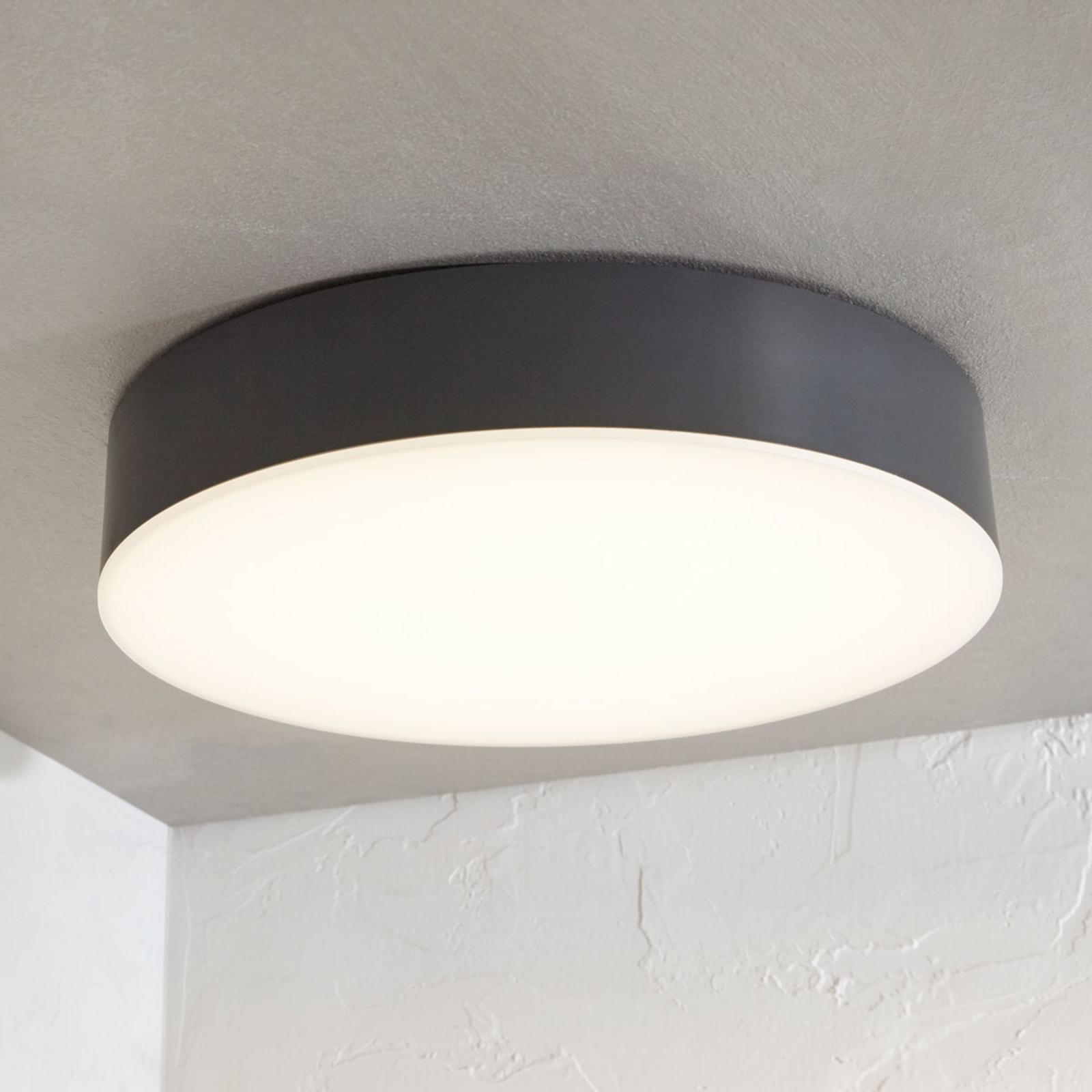LED-Außendeckenlampe Lahja, IP65, dunkelgrau