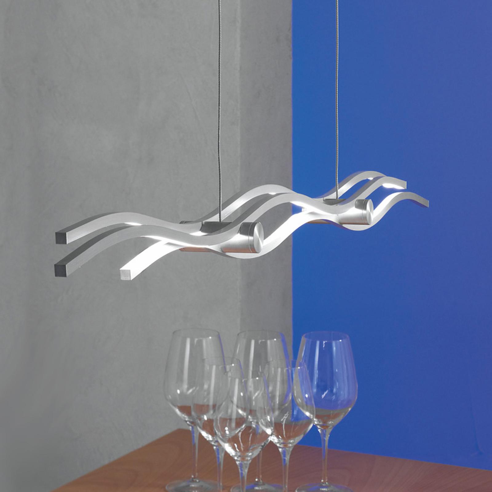 Kreatywna lampa wisząca LED Silk, 157 cm