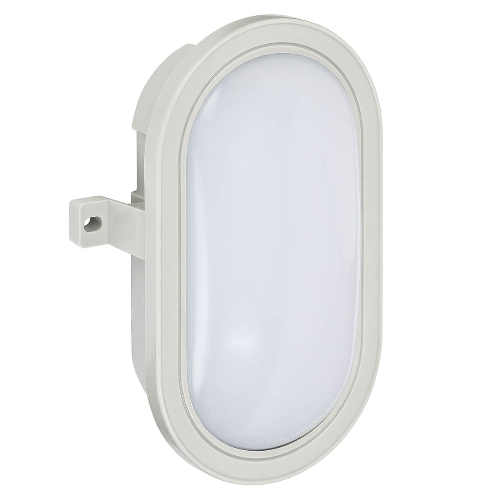 Ovale LED-Außenwandlampe Mats aus Kunststoff