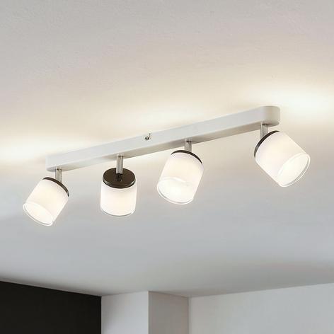 Compra Negra lámpara de techo Link con focos dirigibles