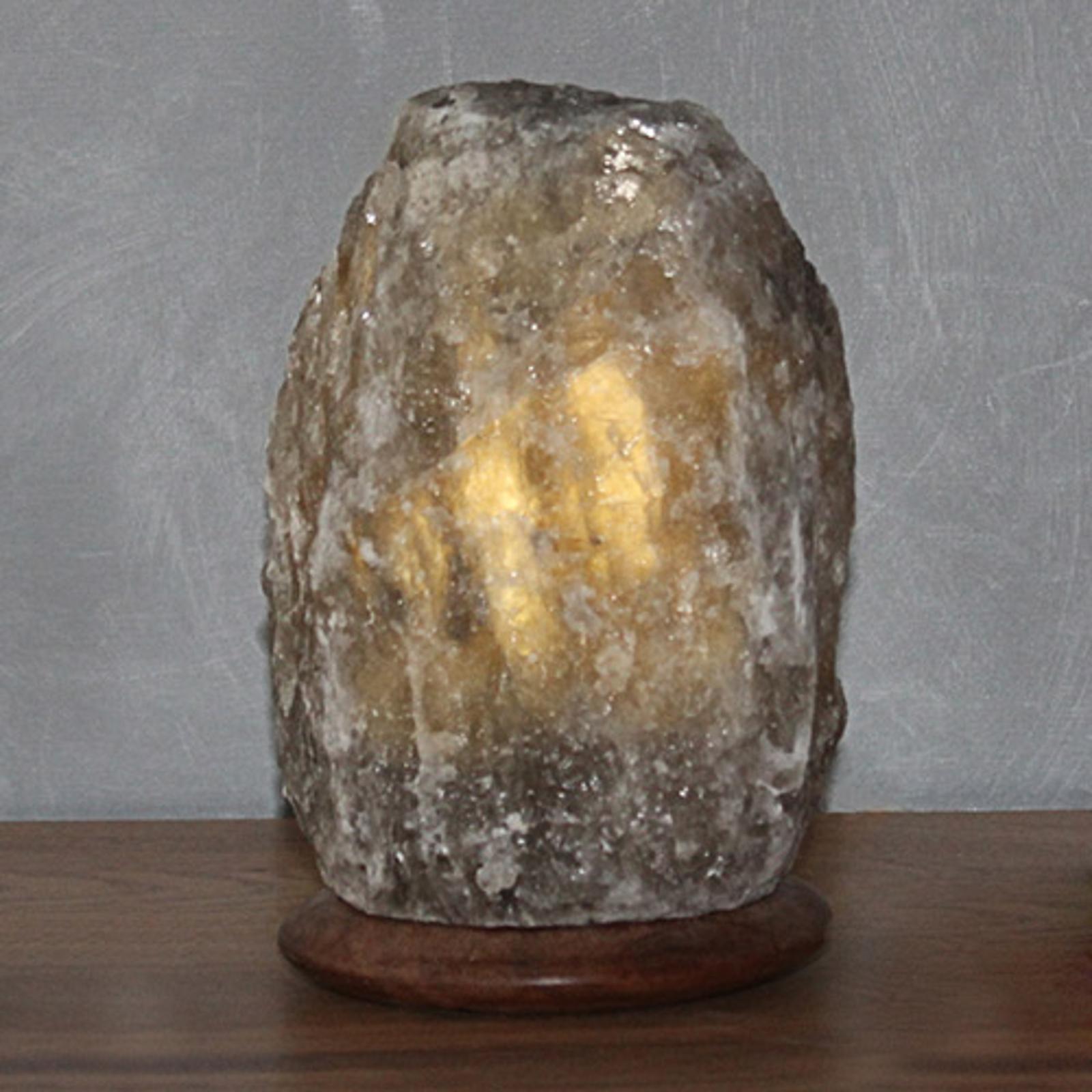 Lampe à poser en sel cristallisé - Rock Grey Line