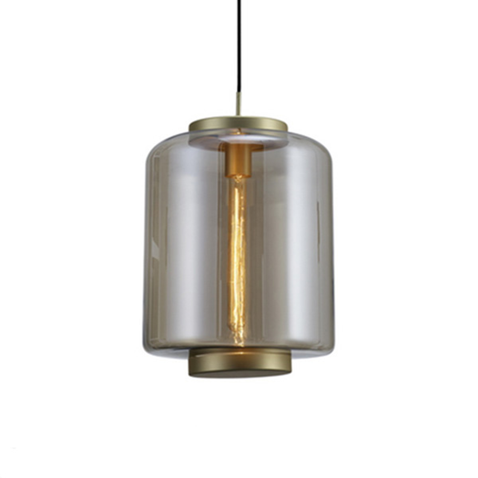Hanglamp Jarras van glas Ø 30 cm, brons