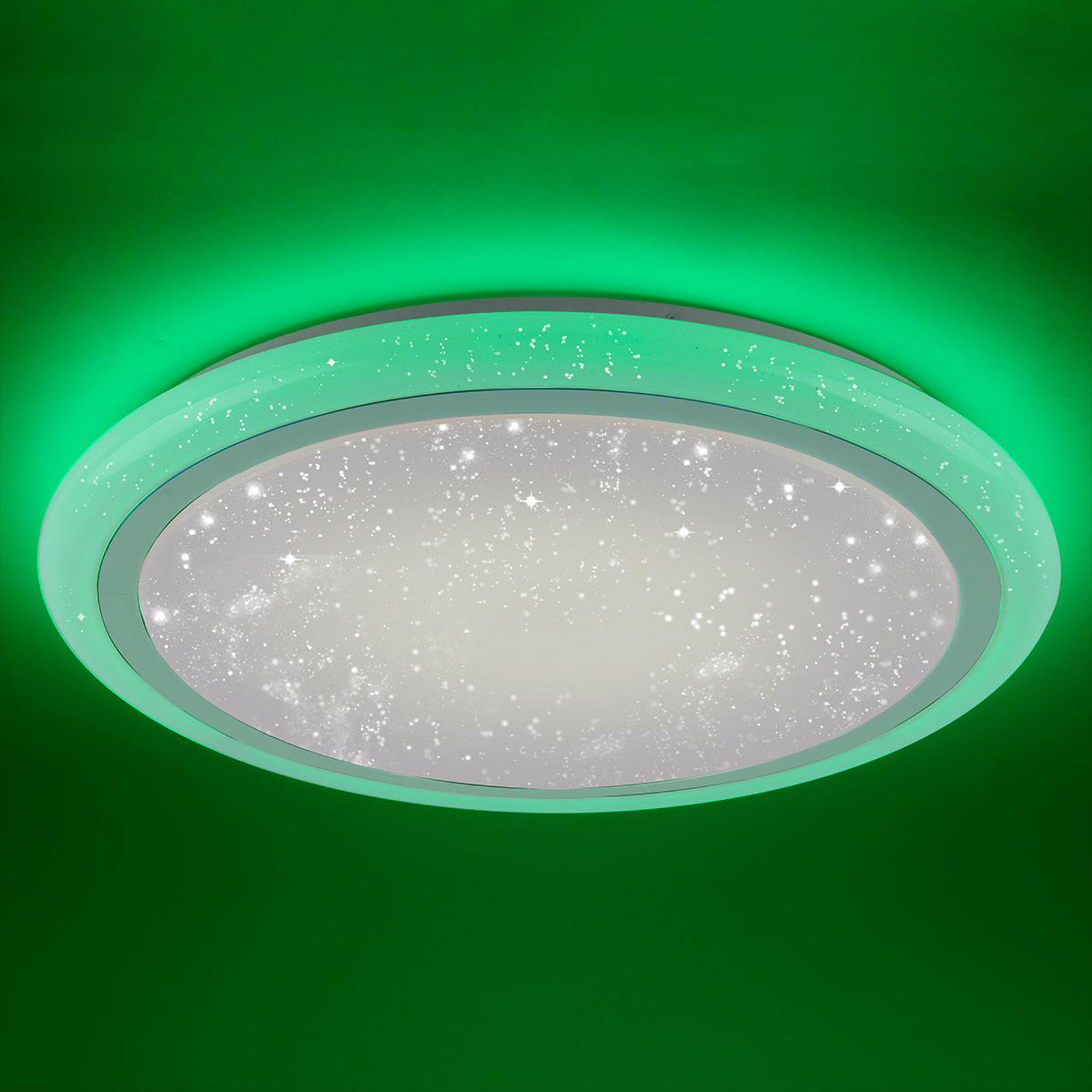 Styrbar LED-taklampe Luisa med fargeveksling