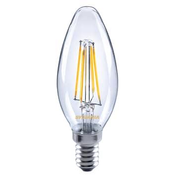 LED svíčka E14 ToLEDo 4,5W 827 čirá