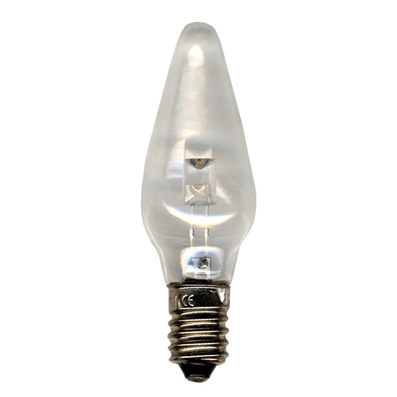 E10 0,2W 12V LED náhradní žárovky 3 ks, čirá