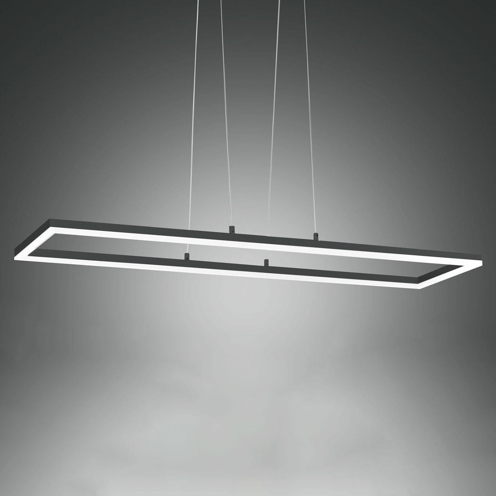 LED-hengelampe Bard, 92x32 cm, antrasitt