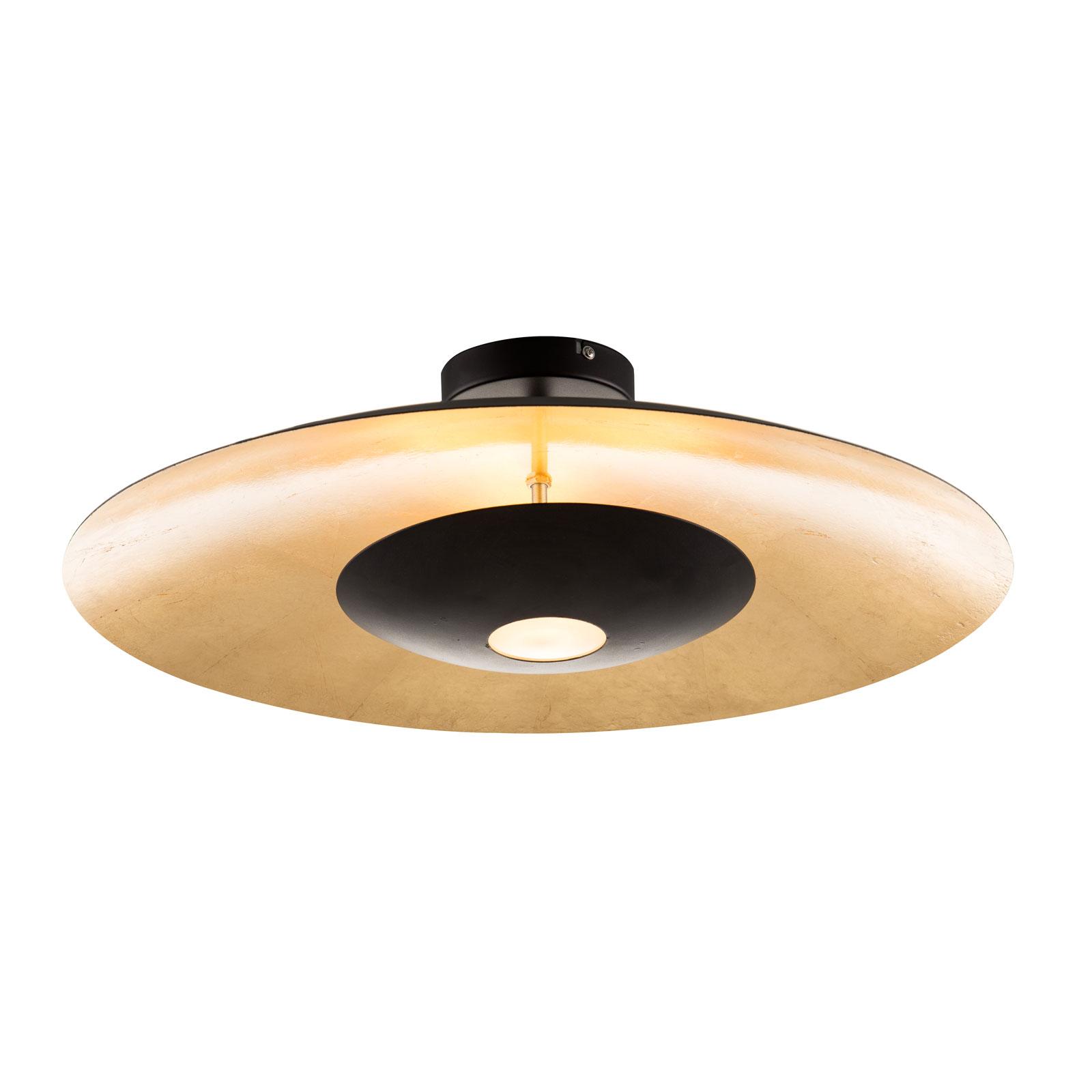 Lampa sufitowa LED Minas czarno-złota, ściemniana