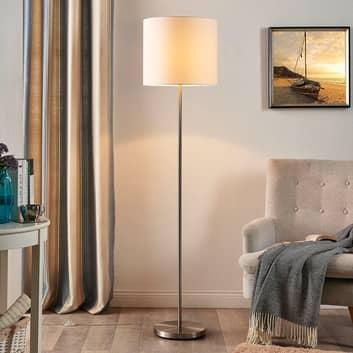 Parsa - Stehlampe mit Textilschirm in Weiß