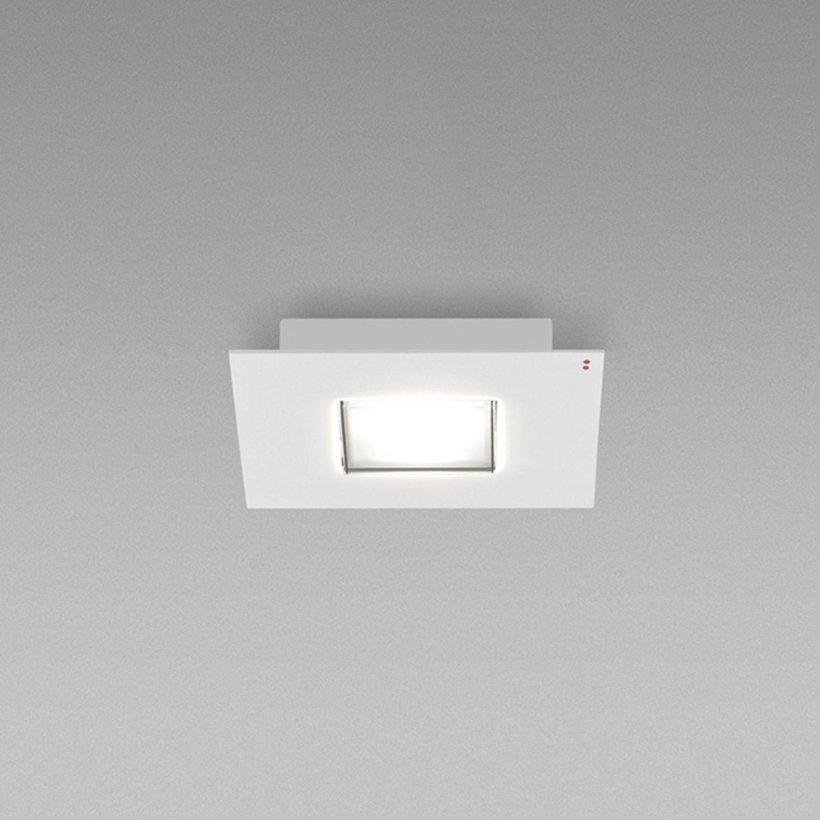Fabbian Quarter - firkantet LED-loftlampe