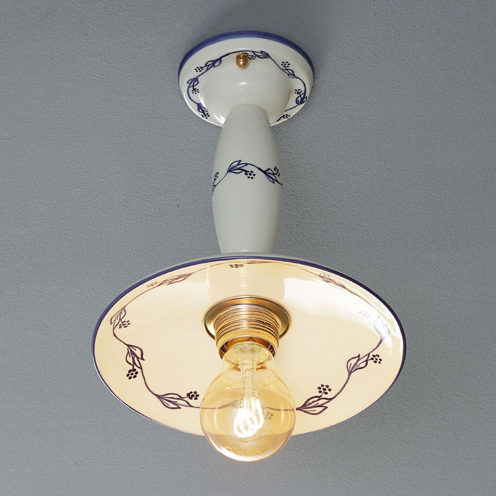 Ceramiczna lampa sufitowa RIBES z odstępem