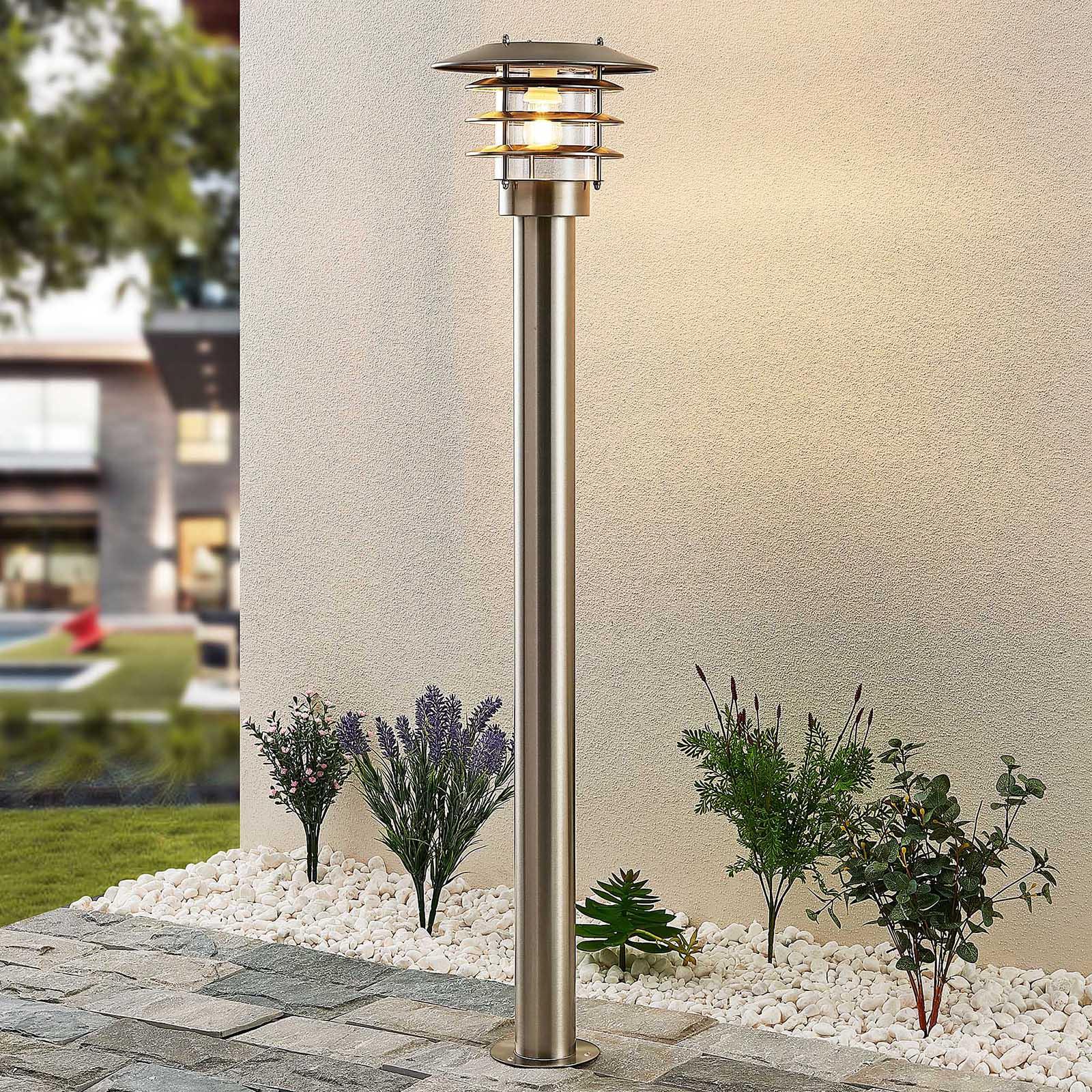 Lindby Dimara solarny słupek oświetleniowy LED