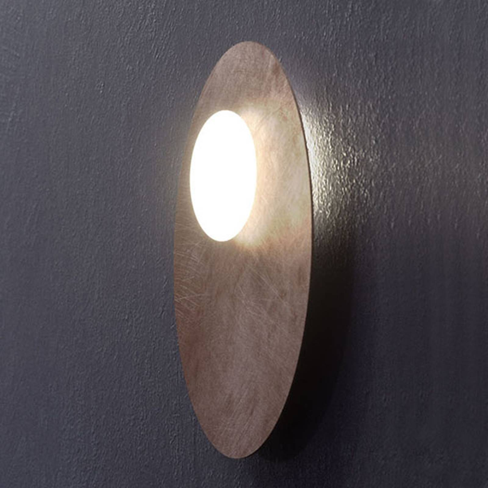 Axolight Kwic lampa sufitowa LED, brązowa Ø48cm