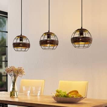 Lindby Kaska hanglamp, 3-lamps