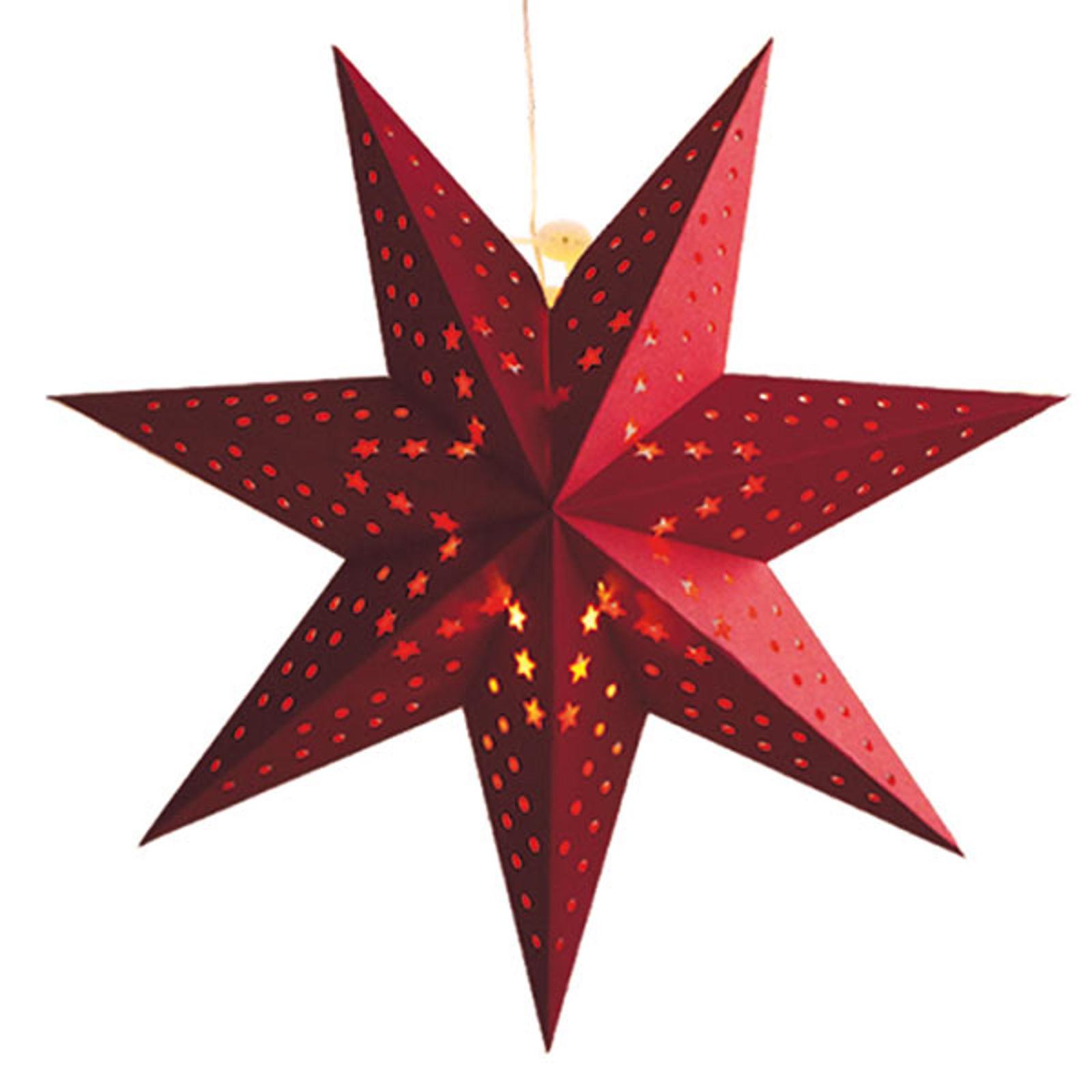 Wzór, płatki – gwiazda LED Cellcandle czerwona
