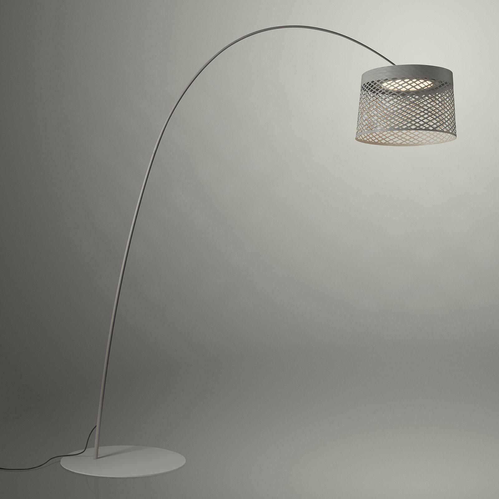 Foscarini Twiggy Grid lampadaire arqué LED, grège