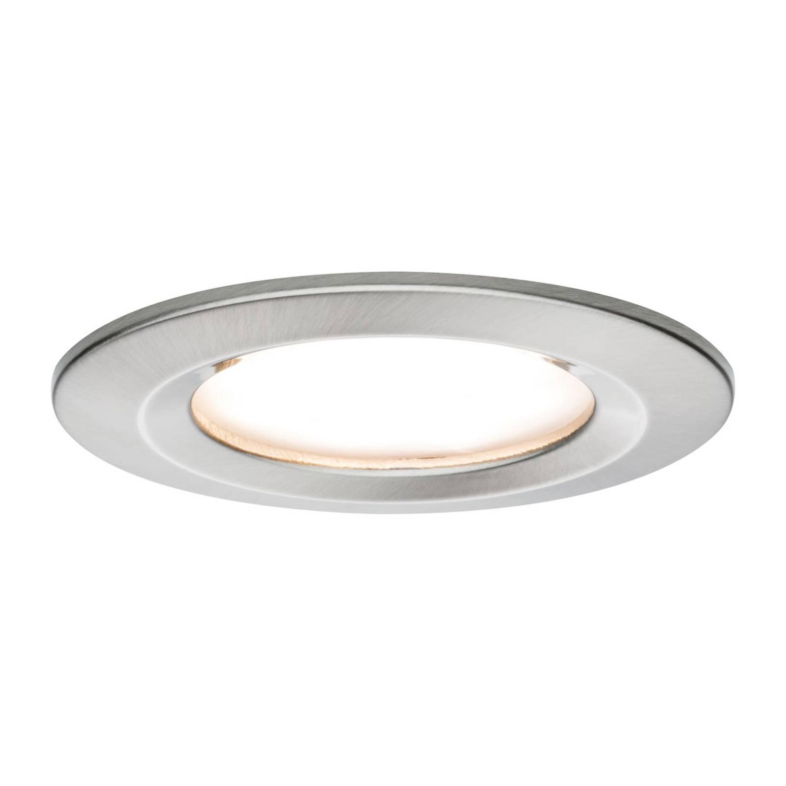 Paulmann Nova Coin faretto LED tondo, ferro