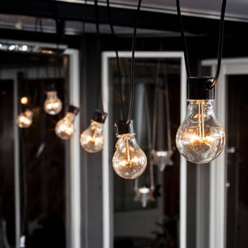 Cadena de luces LED Biergarten, ampliación, ámbar