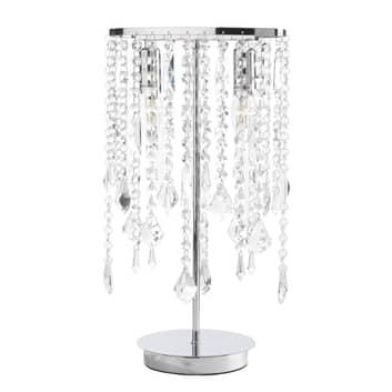 Tafellamp Laila met kristal-behang 2-lamps