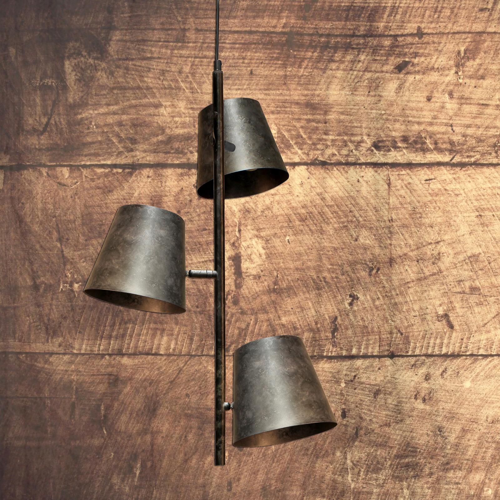 Suspension Colt, à 3 lampes, gris givré