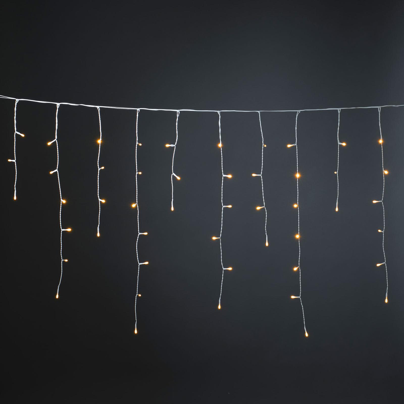 IJsregengordijn glimmer amber 50,7 cm 200-lamps