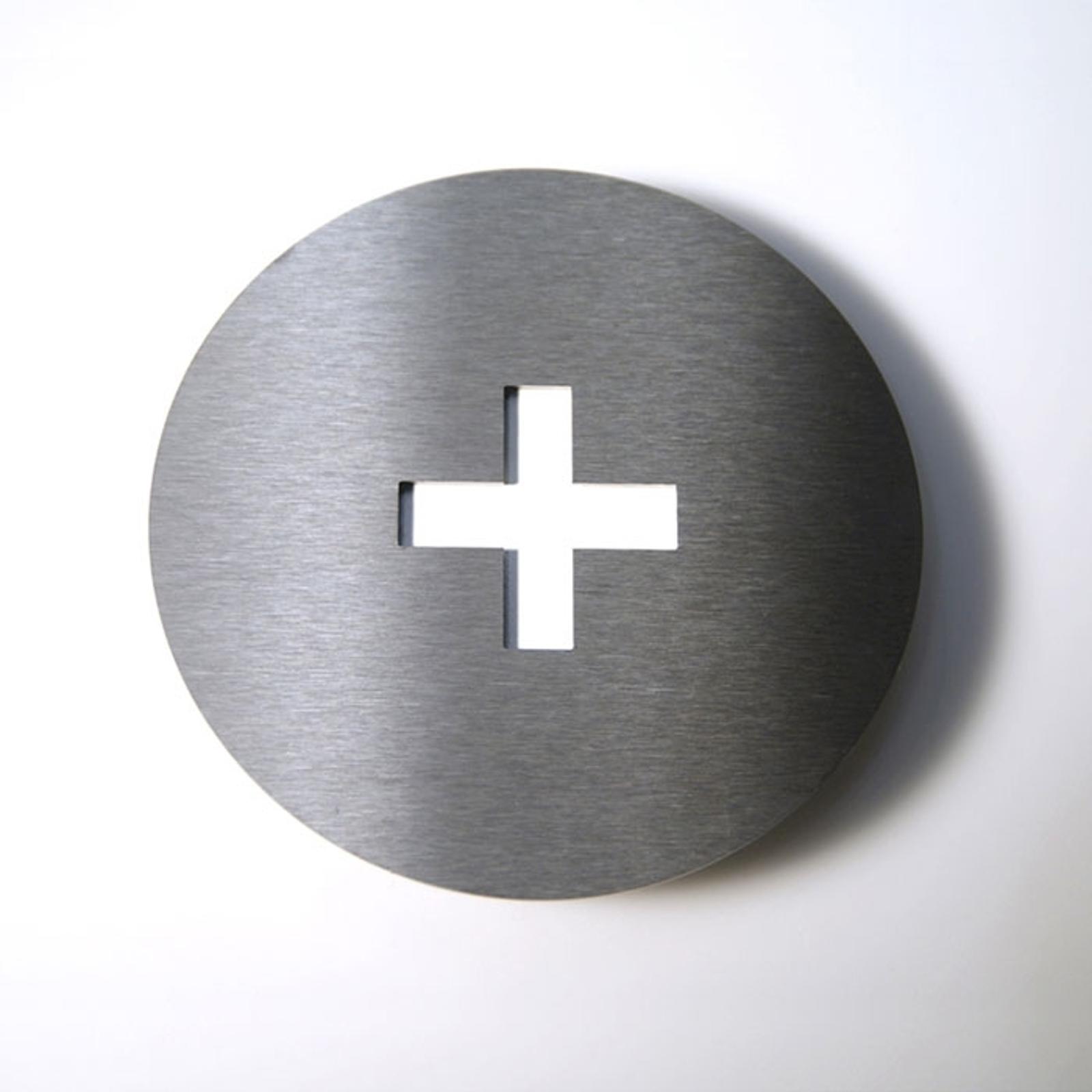 Número de casa Round de acero inoxidable +