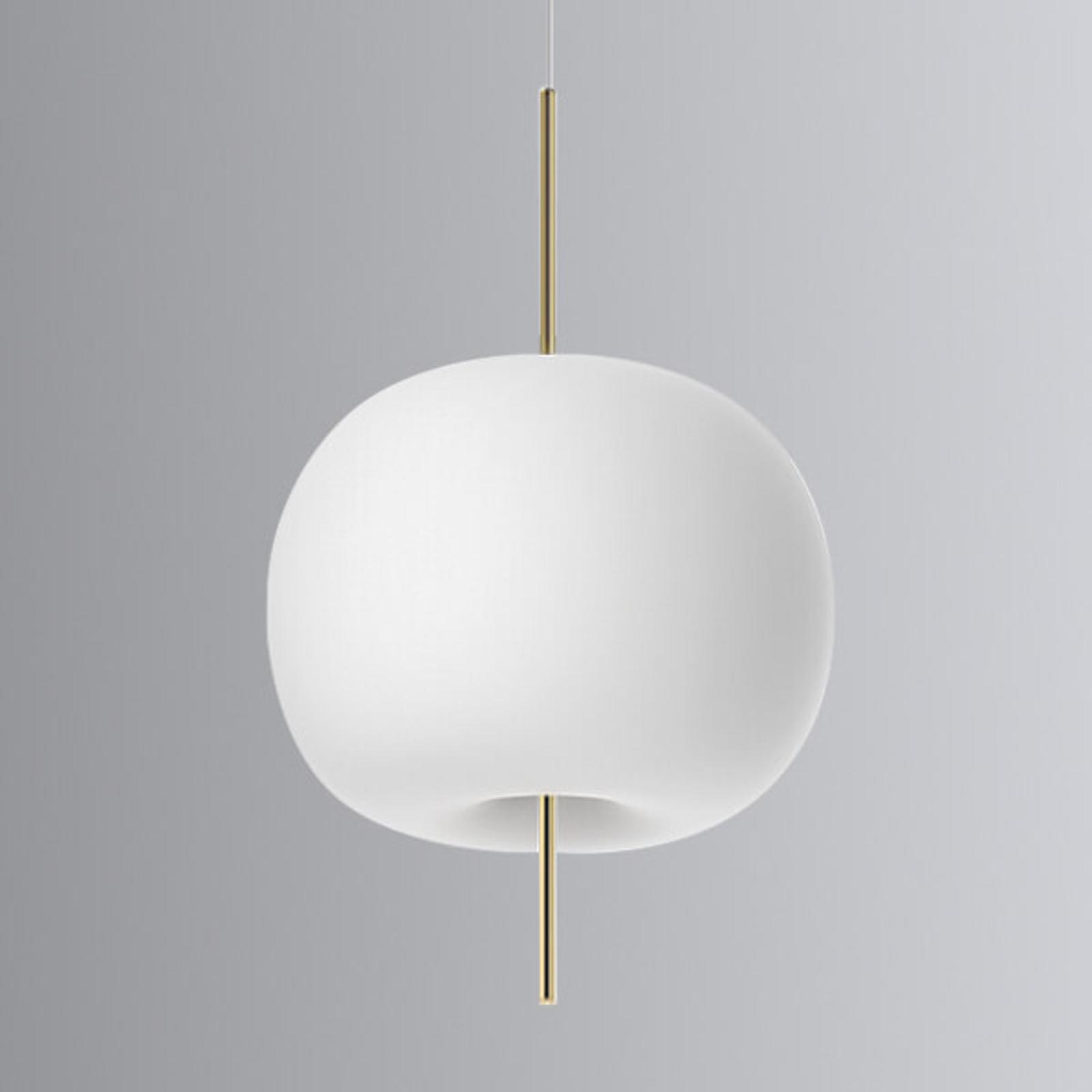 Szklana designerska lampa wisząca LED Kushi, 33cm