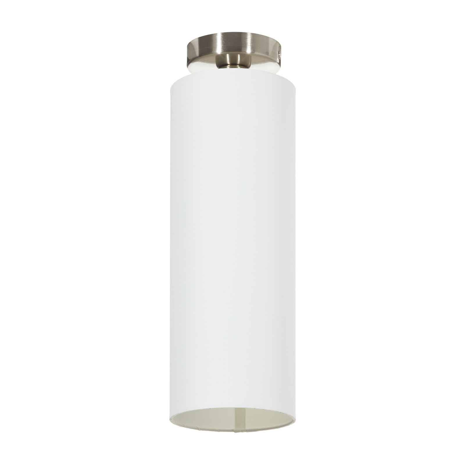 Lucande Patrik tekstylna lampa sufitowa 15cm biała