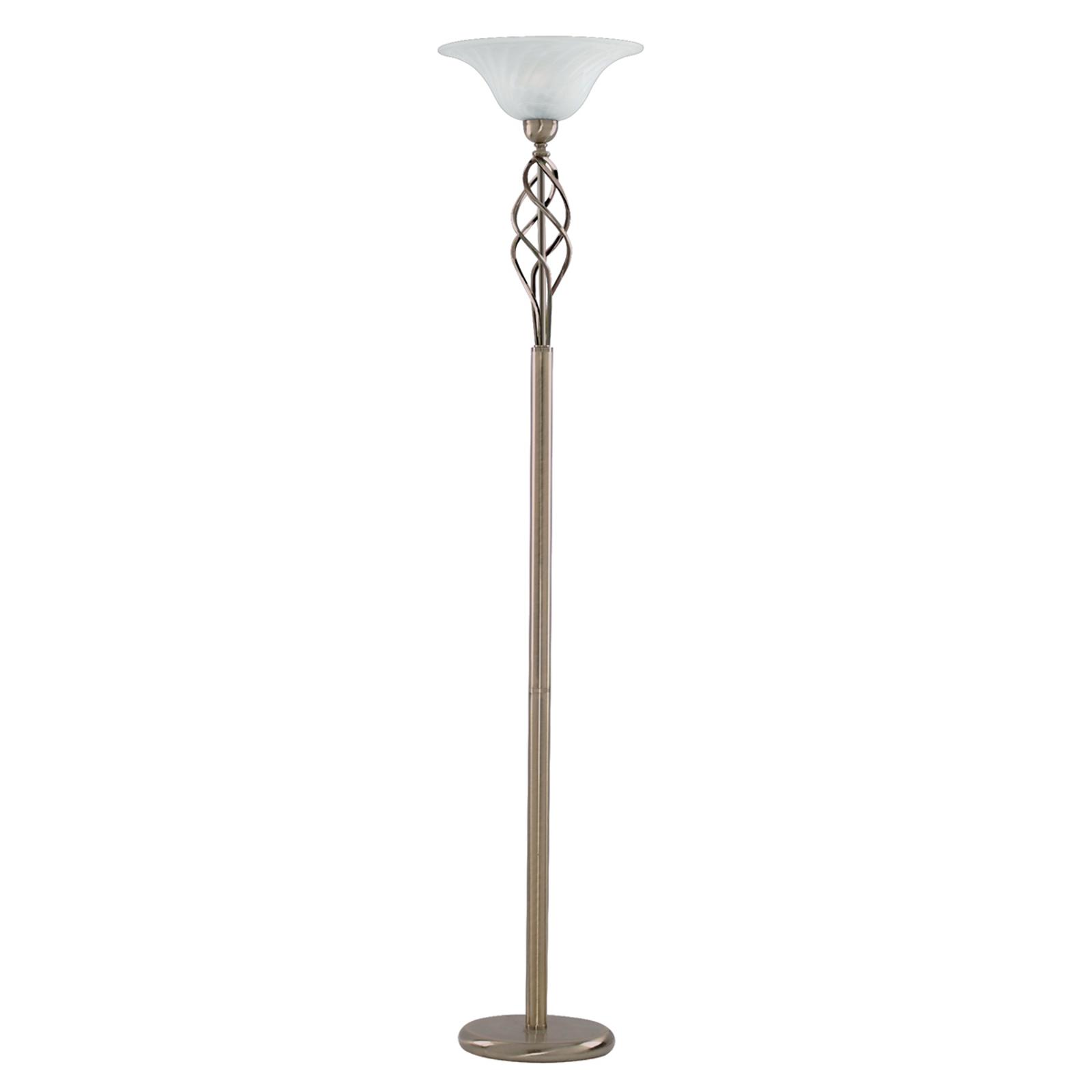 Elegante lampada pavimento FIONNA, ottone antico
