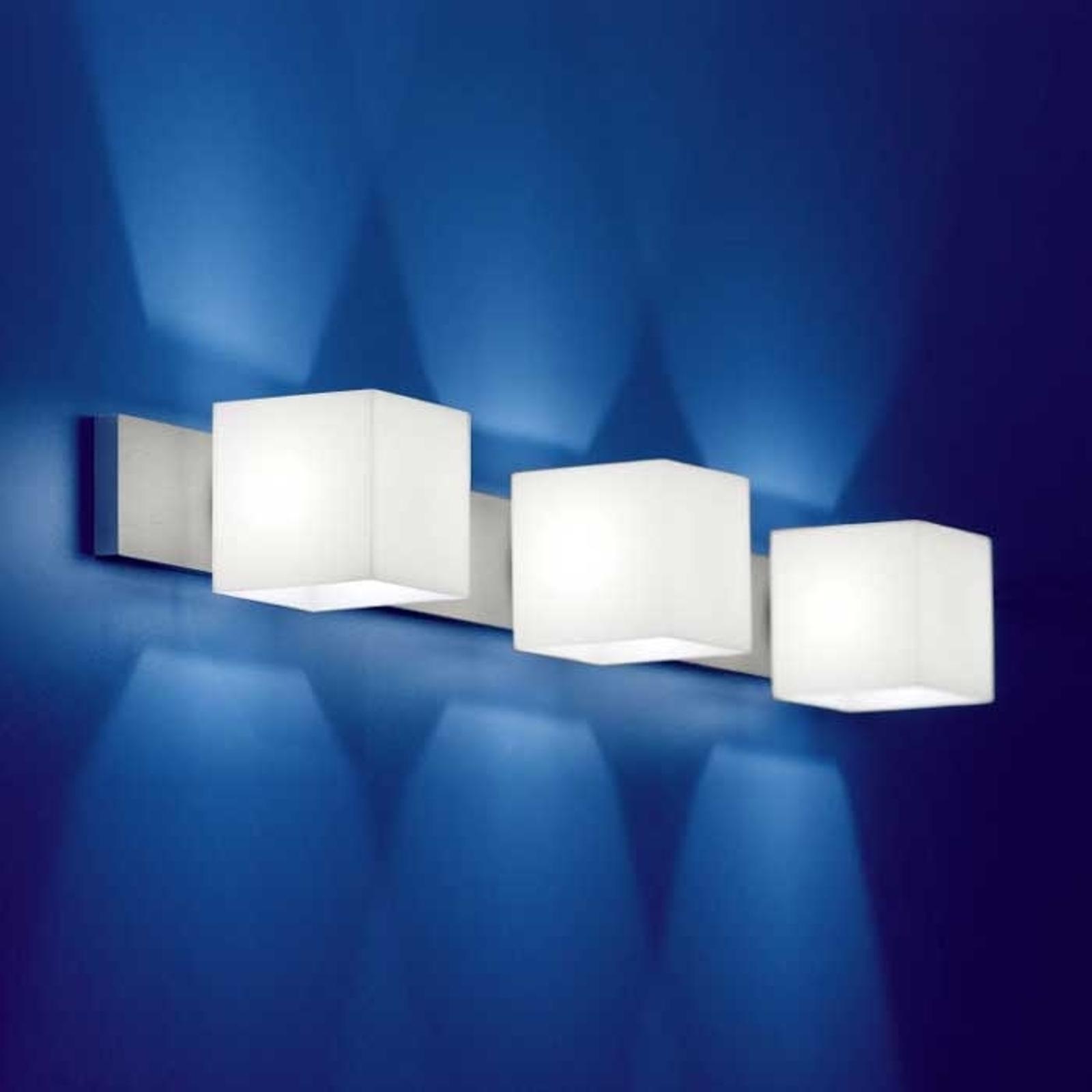Wandlamp CUBE, 3-lichts met antiverblinding