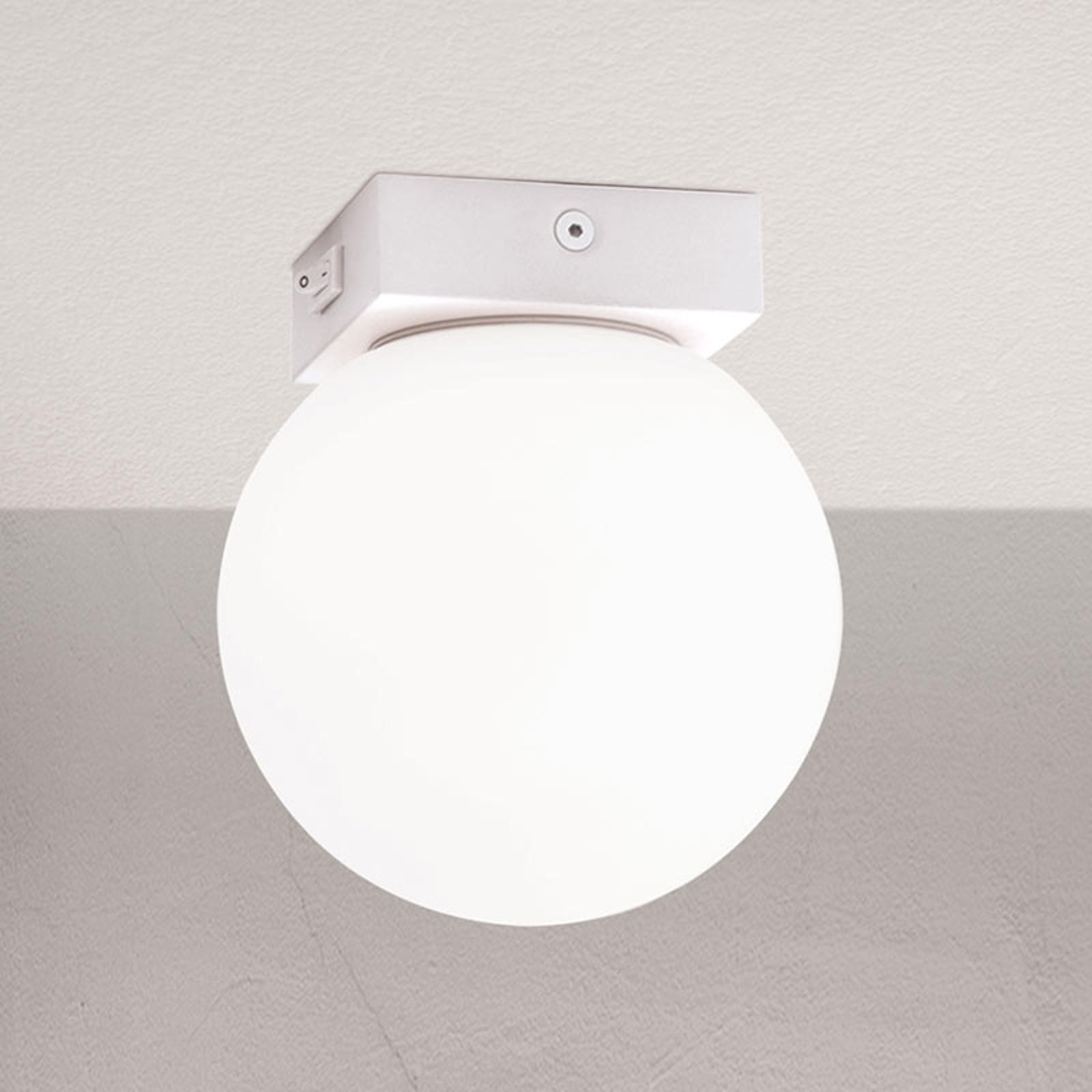 LED-taklampe Snowball med bryter