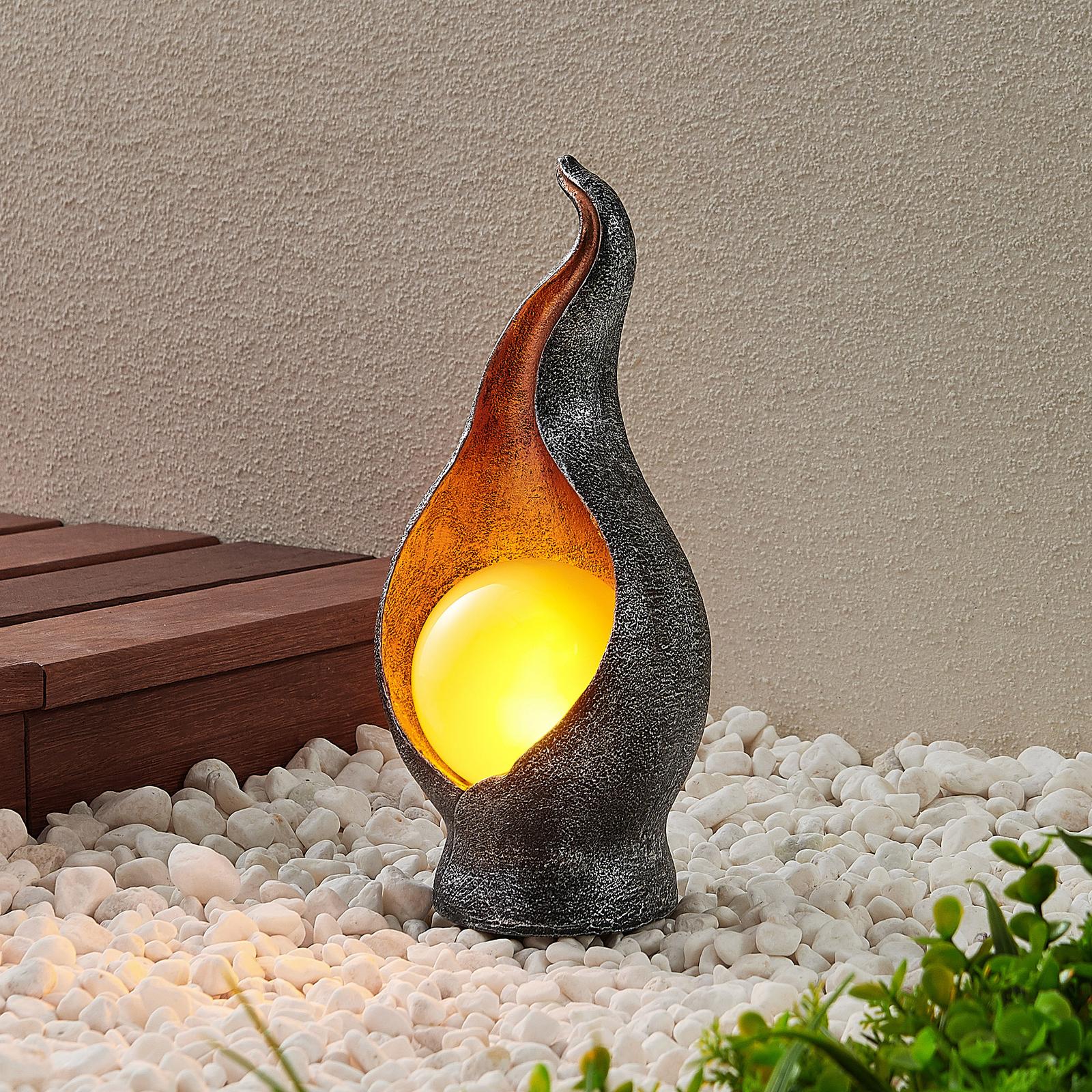 Lindby Eoin dekorativ LED-solcellslampa med kula