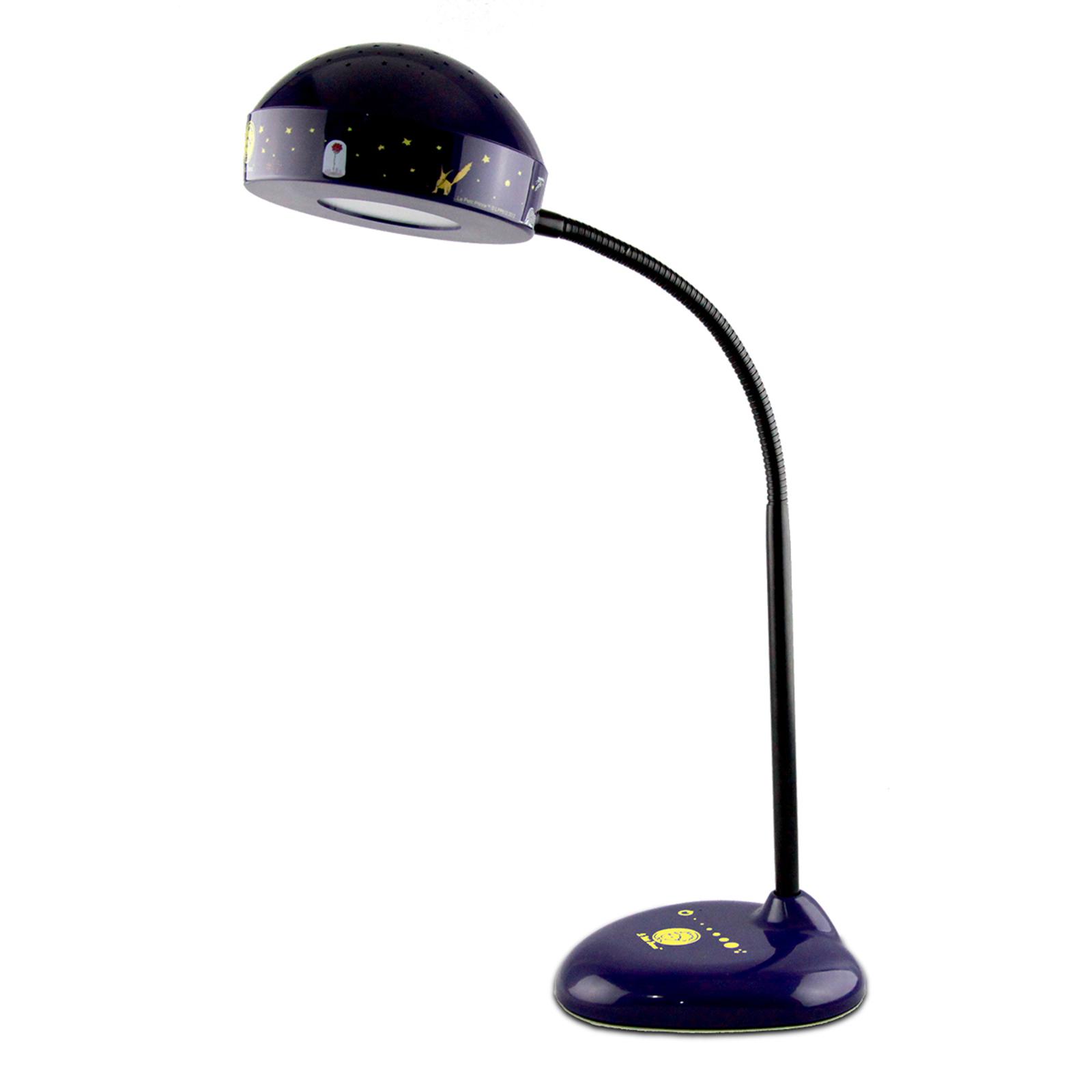 LED-skrivbordslampa Lille prinsen med nattlampa