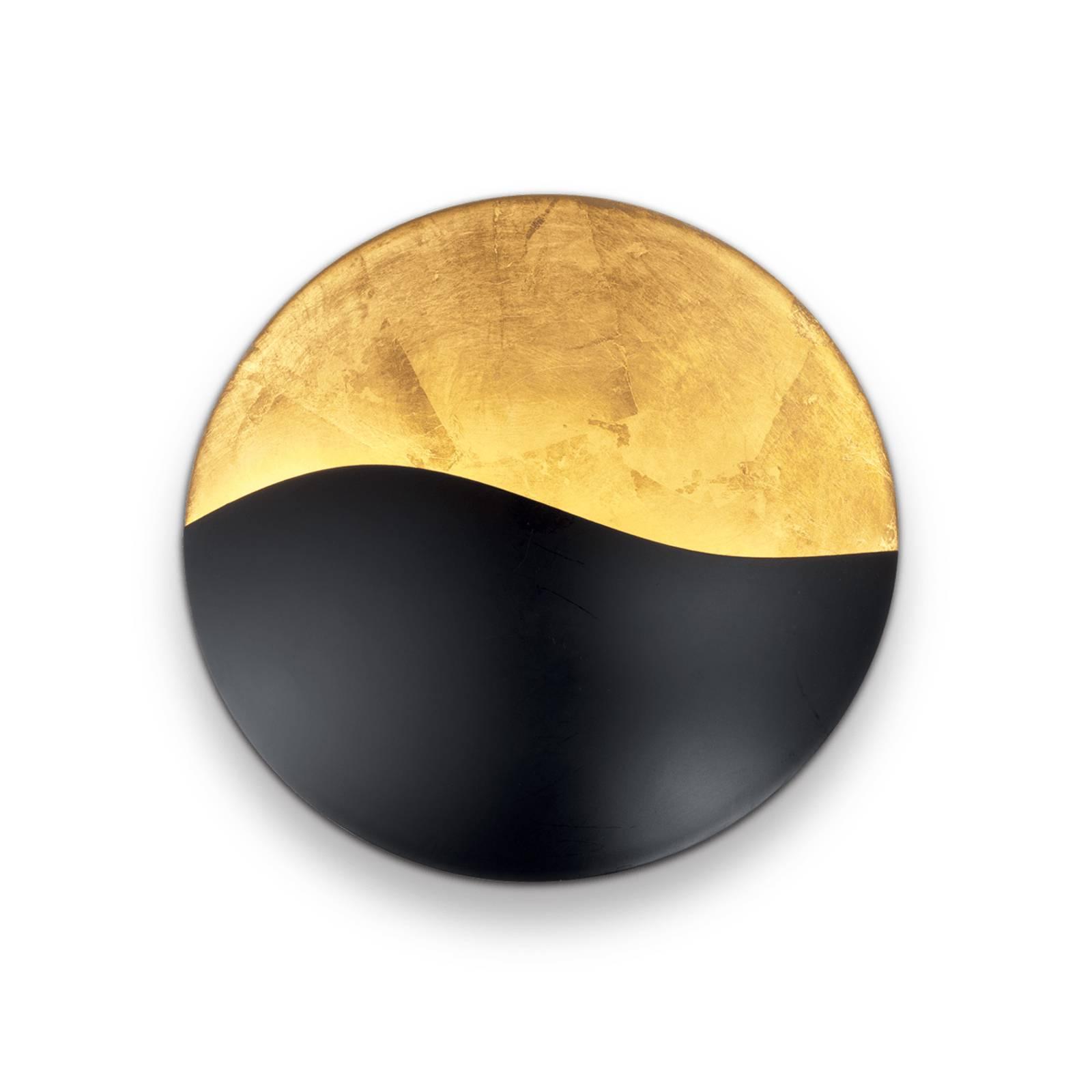 Wandleuchte Sunrise G9, schwarz / gold, Ø 27,5 cm