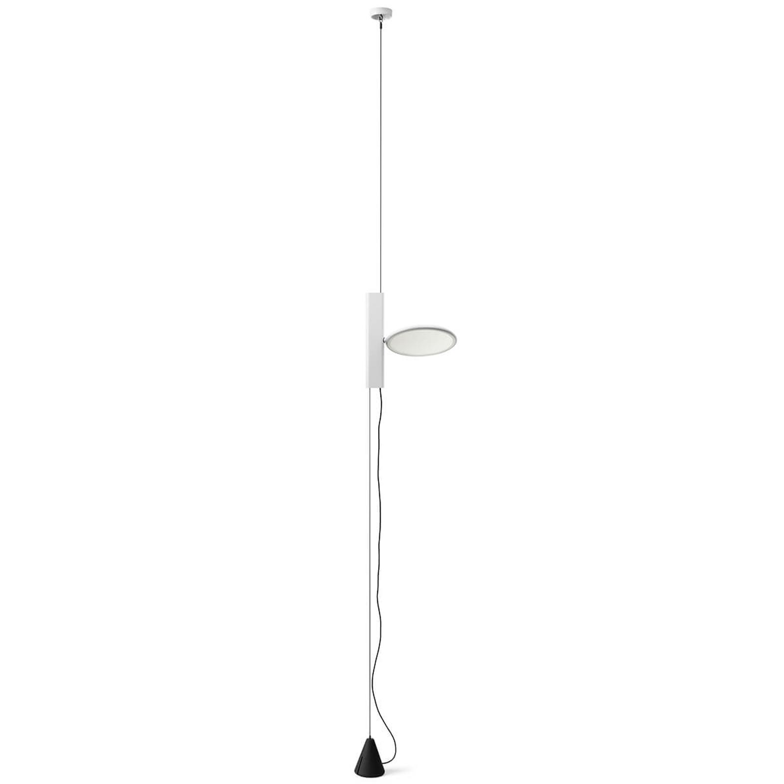 OK - stående LED-hængelampe i hvid