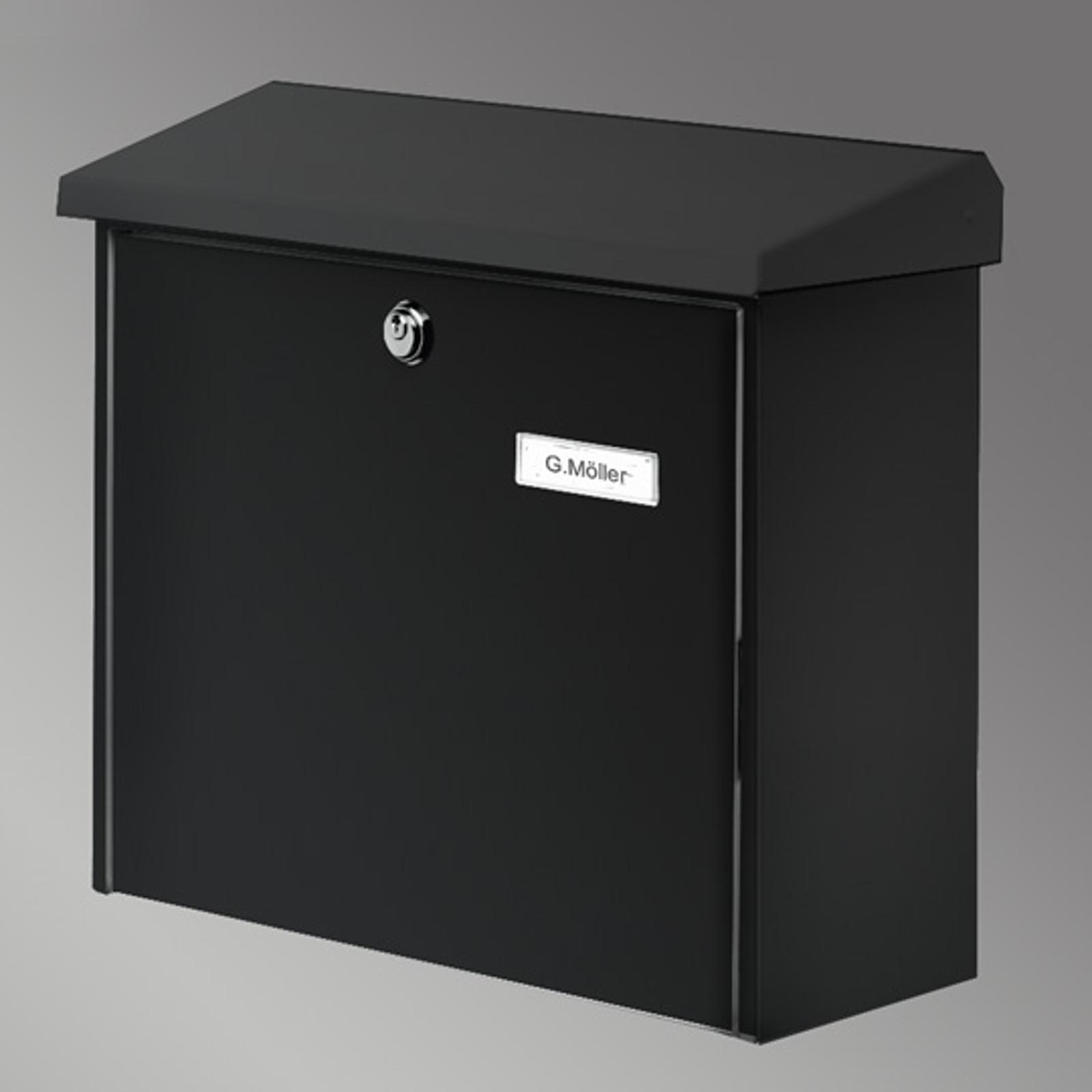 Comfort postkasse, svart