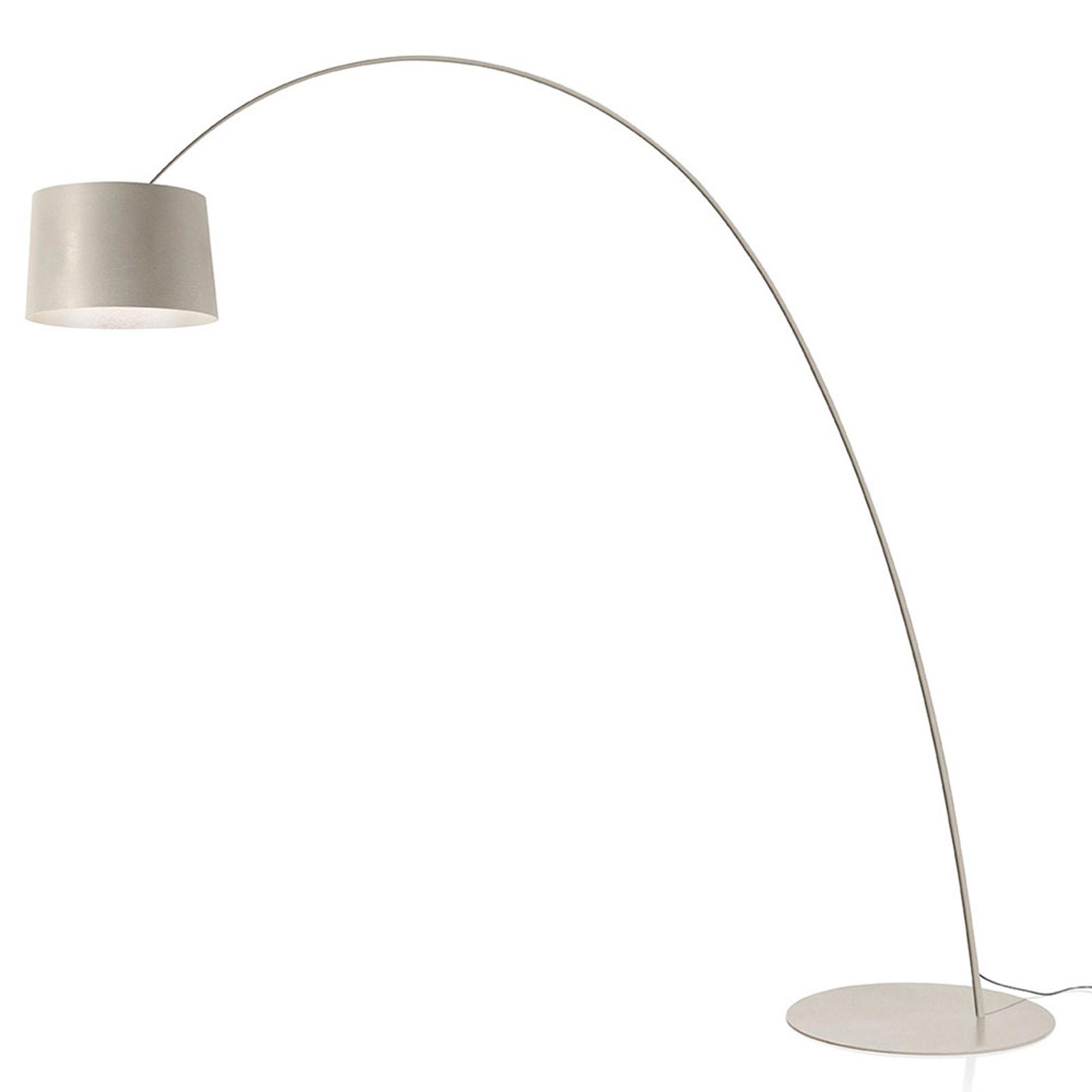 Foscarini Twiggy LED-golvlampa, gråbeige