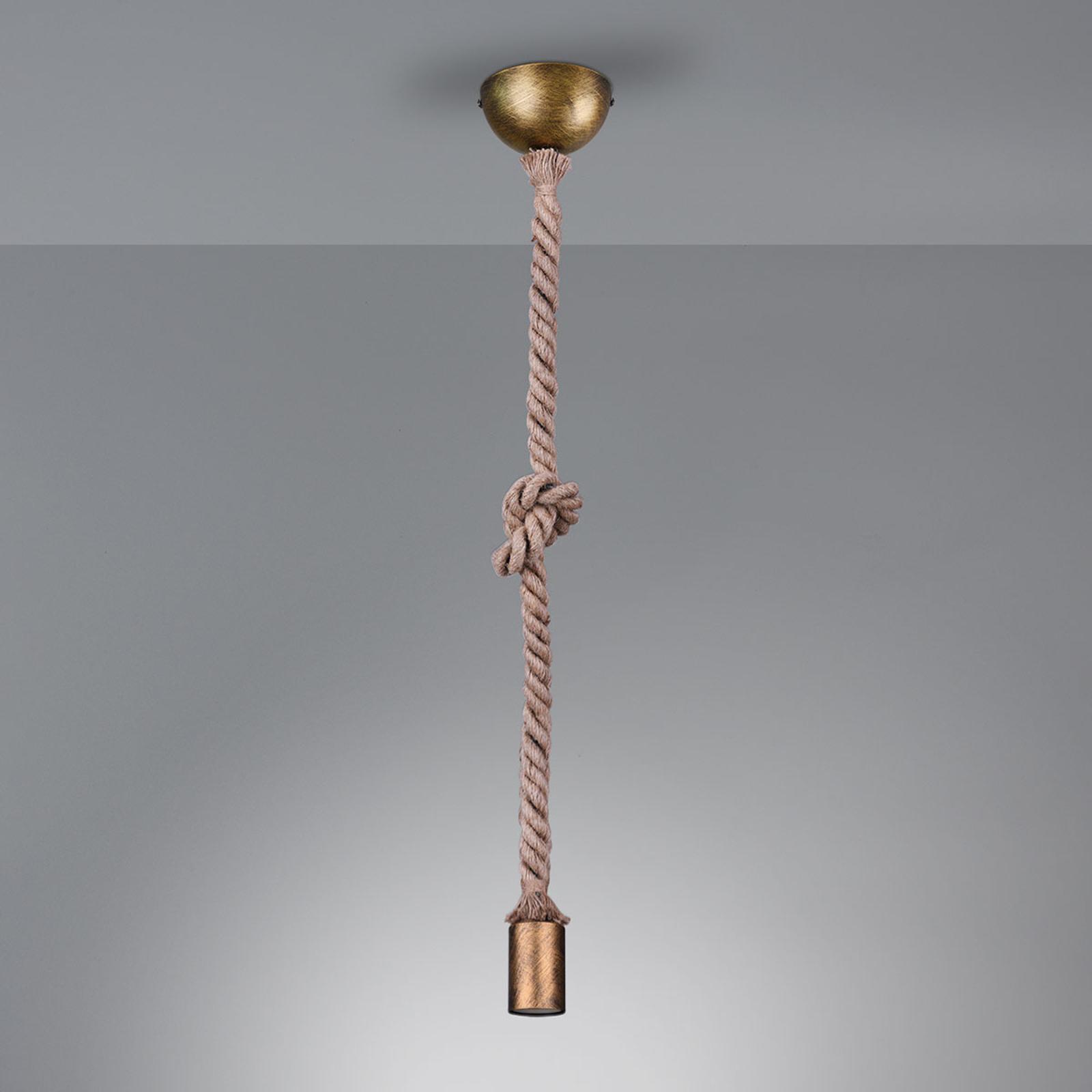 Suspension Rope avec corde décorative 1lampe